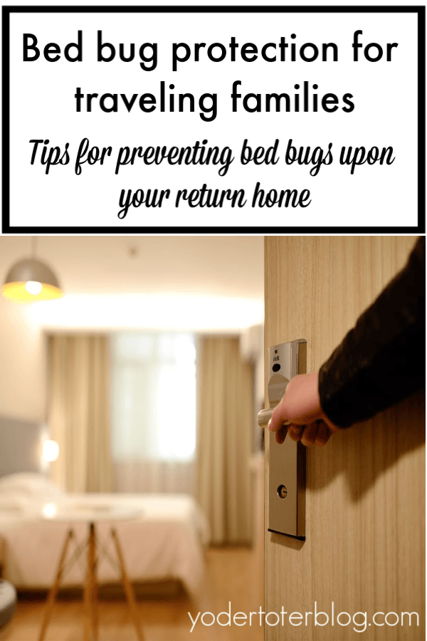 Preventing bed bugs while traveling.  Tips for protecting yourself from a bed bug infestation once you return home.  #travel #bedbugs