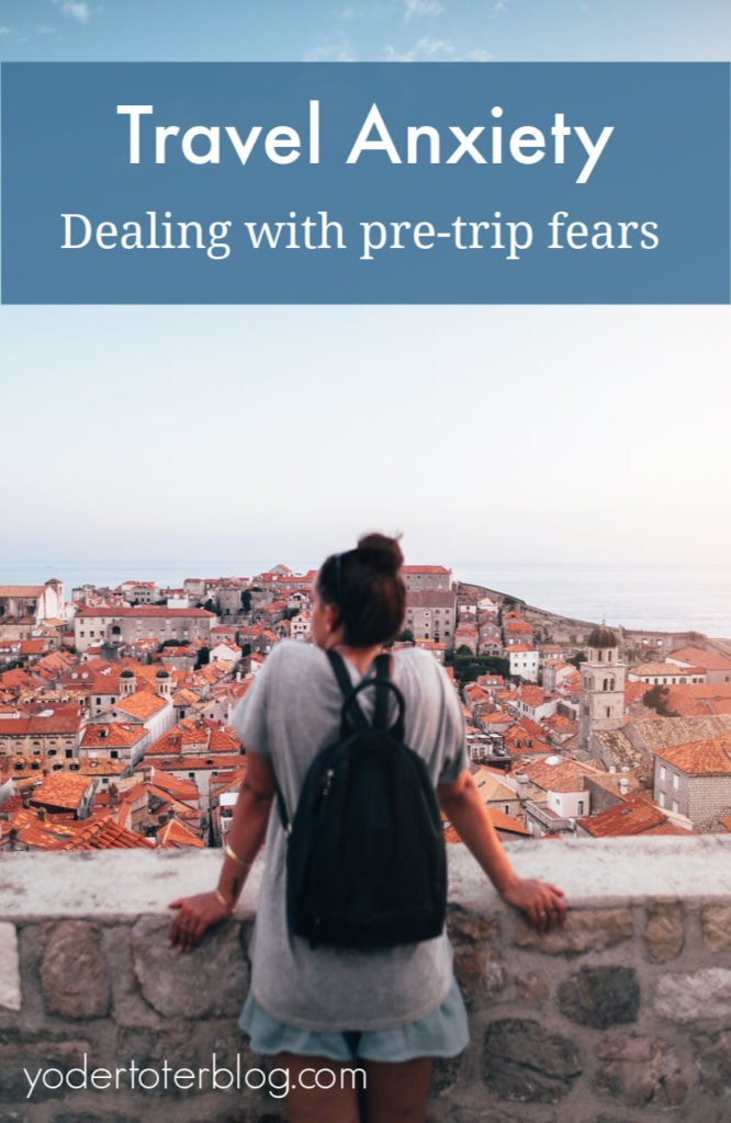 Tips for dealing with travel anxiety and pre-vacation nerves.  A mom and frequent traveler shares how she deals with concerns about the weather, flights, and money.