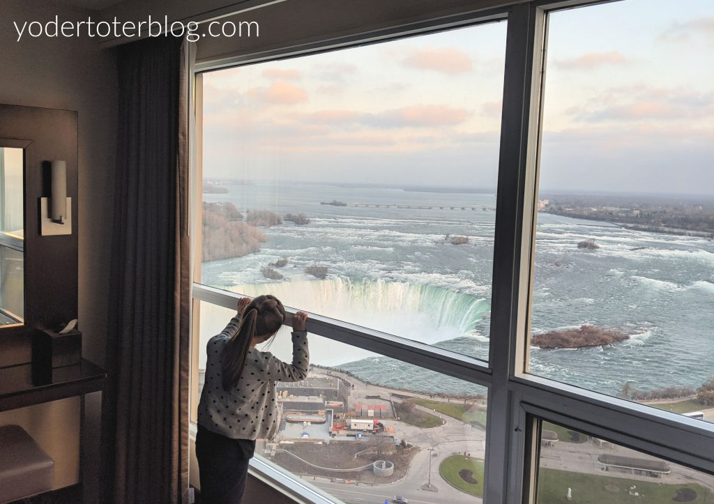 The view from our room at the Embassy Suites Niagara Falls.