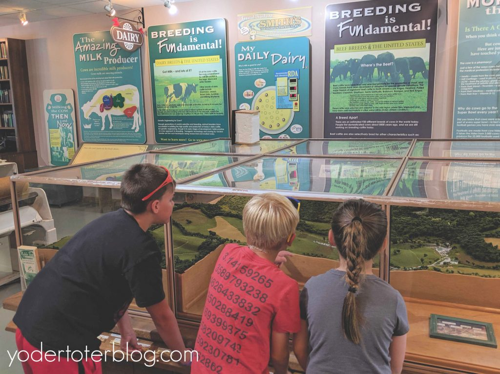 The Visitor Center at Malabar Farm State Park has educational exhibits for all ages to enjoy.