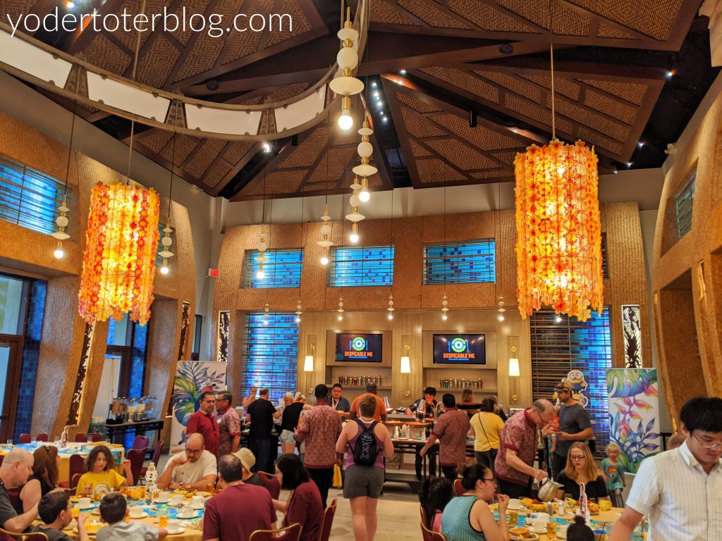 This dining room at the Loews Pacific Resort serves as home for the Despicable Me Character Breakfast with the Minions.