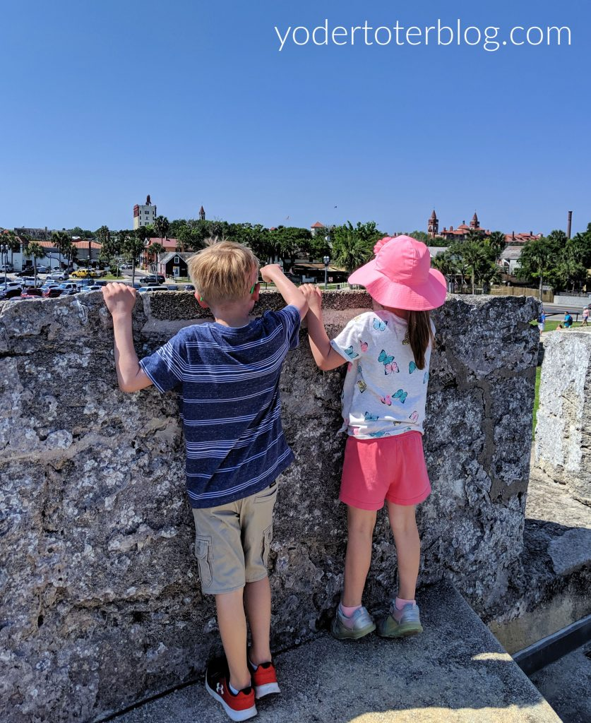 Castillo de Marcos offers a view over downtown St. Augustine