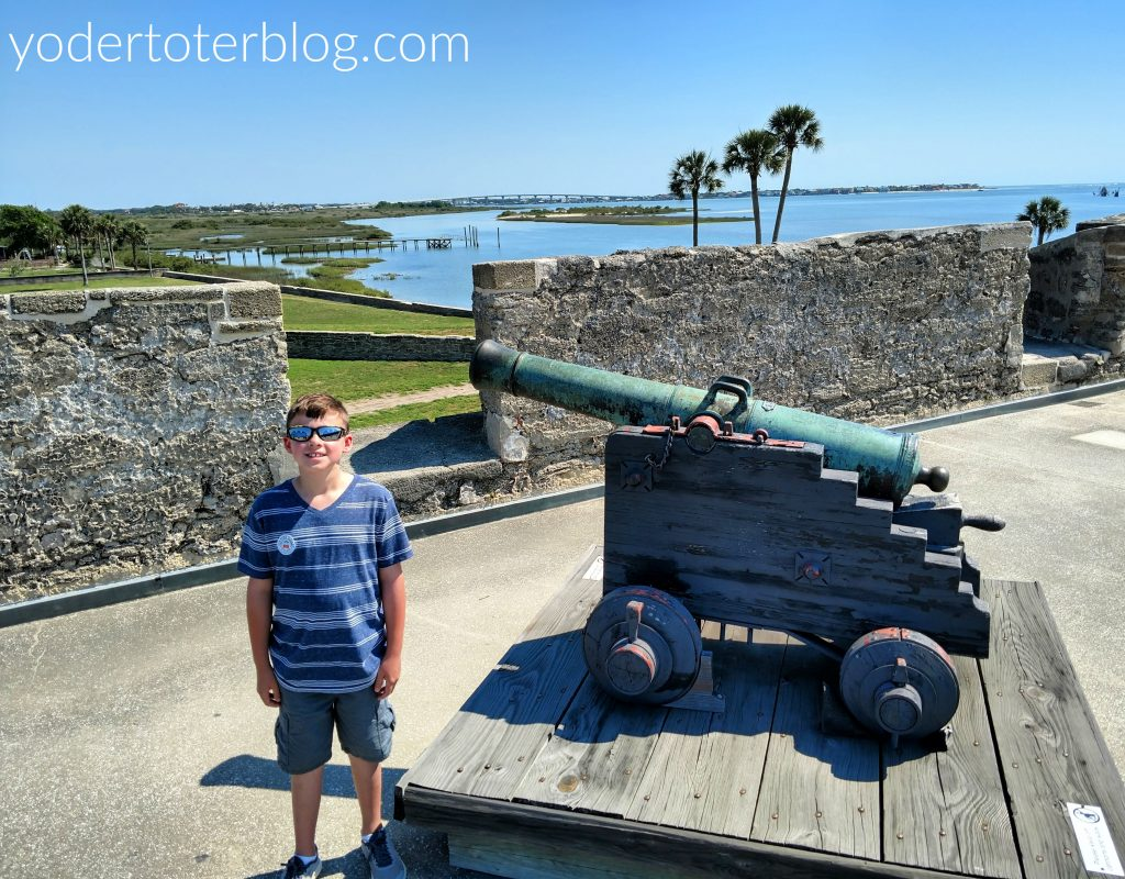 St. Augustine historic fort, Castillo de San Marcos, offers something for all ages.  However, pay close attention to small children on the top level, as the walls are not full height