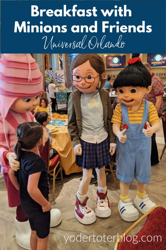 Everything you need to know about the Despicable Me Universal Character Dining.  Enjoy breakfast with the Minions and friends at Loews Pacific Resort near Universal Orlando.  Here are tips for a breakfast that the entire family can enjoy.  #visitOrlando #UniversalOrlando