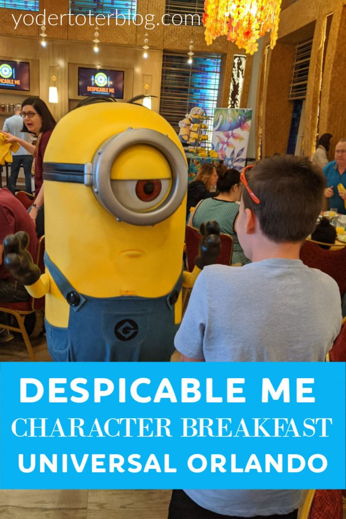The Despicable Me Character Breakfast at Universal Orlando is a Character Dining experience that all fans of the Minions will enjoy.  See why we chose this character dining, plus tips for if you visit. #familytravel #universalorlando