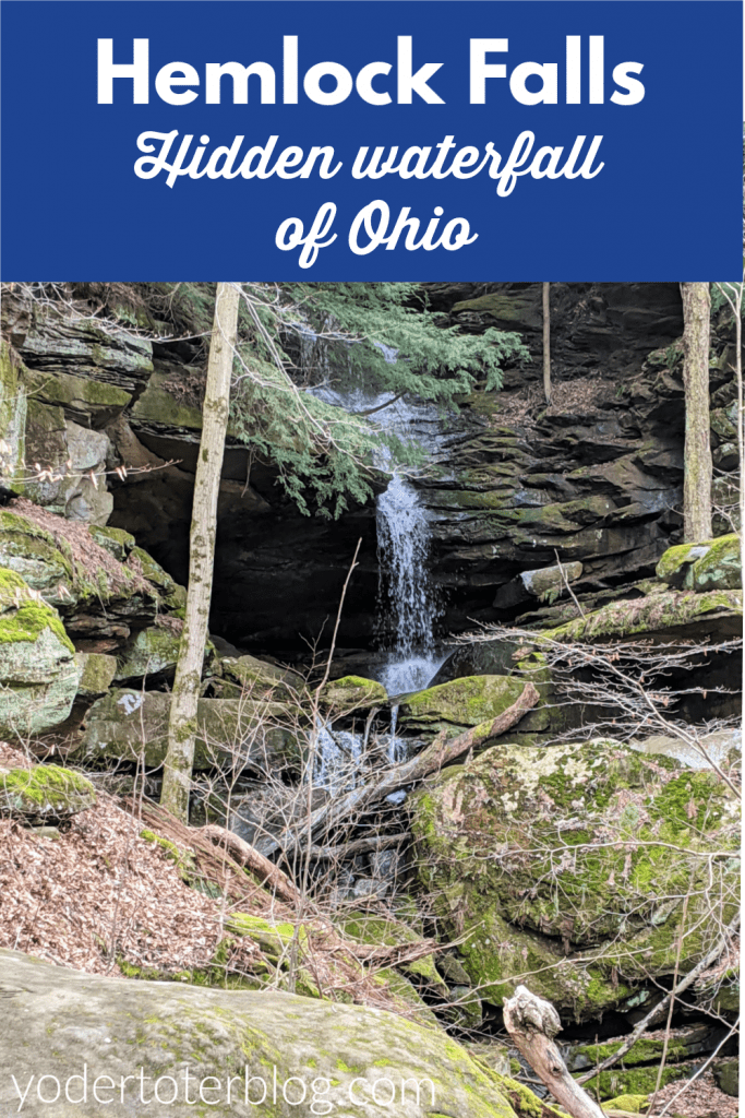 Hemlock Falls State Park is a hidden waterfall close to Mohican State Park. This Northeast Ohio waterfall is accessed by permission only. #hikingOhio #Ohiotravel