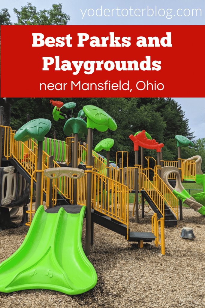 The best Mansfield, Ohio parks and playgrounds.  Places to take your kids in North Central Ohio.  Mom of 4 shares her tips for visiting these places in the Mansfield area.  Great for those visiting Mid-Ohio Sports Car Course, The Ohio Reformatory, or other nearby attractions.