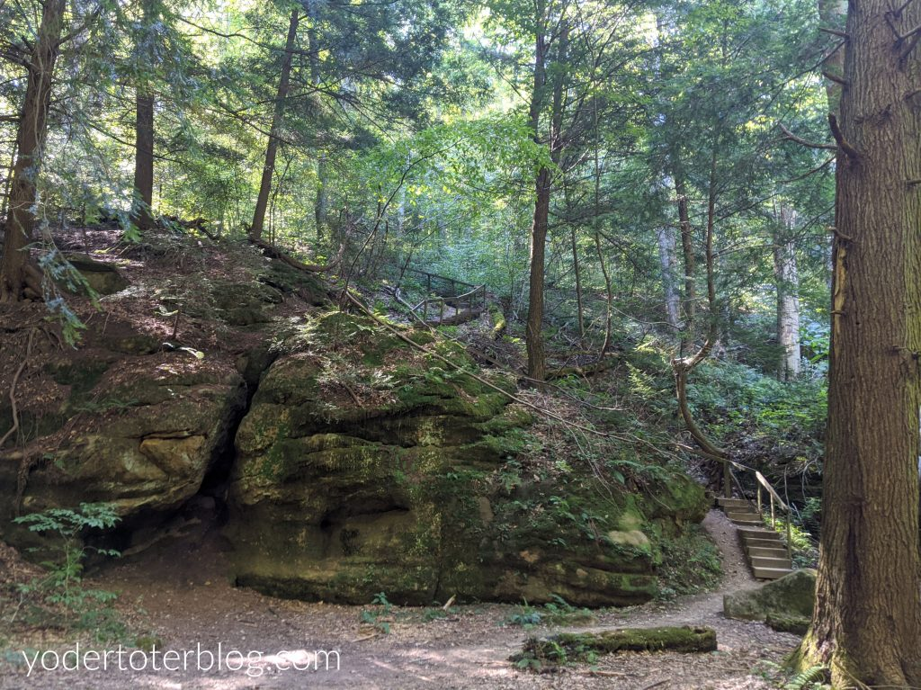Rockstall Nature Preserve near Hocking Hills is a hidden gem of the region.  Find out my tips for visiting this Hocking Hills hike on the grounds of Camp Akita.