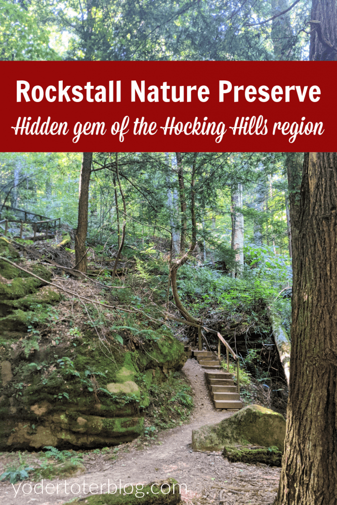 Hiking at Rockstall Nature Preserve in the Hocking Hills Region.  This hidden gem of Hocking Hills is a short drive from Logan, Ohio.  Here are my tips for visiting, especially with kids.