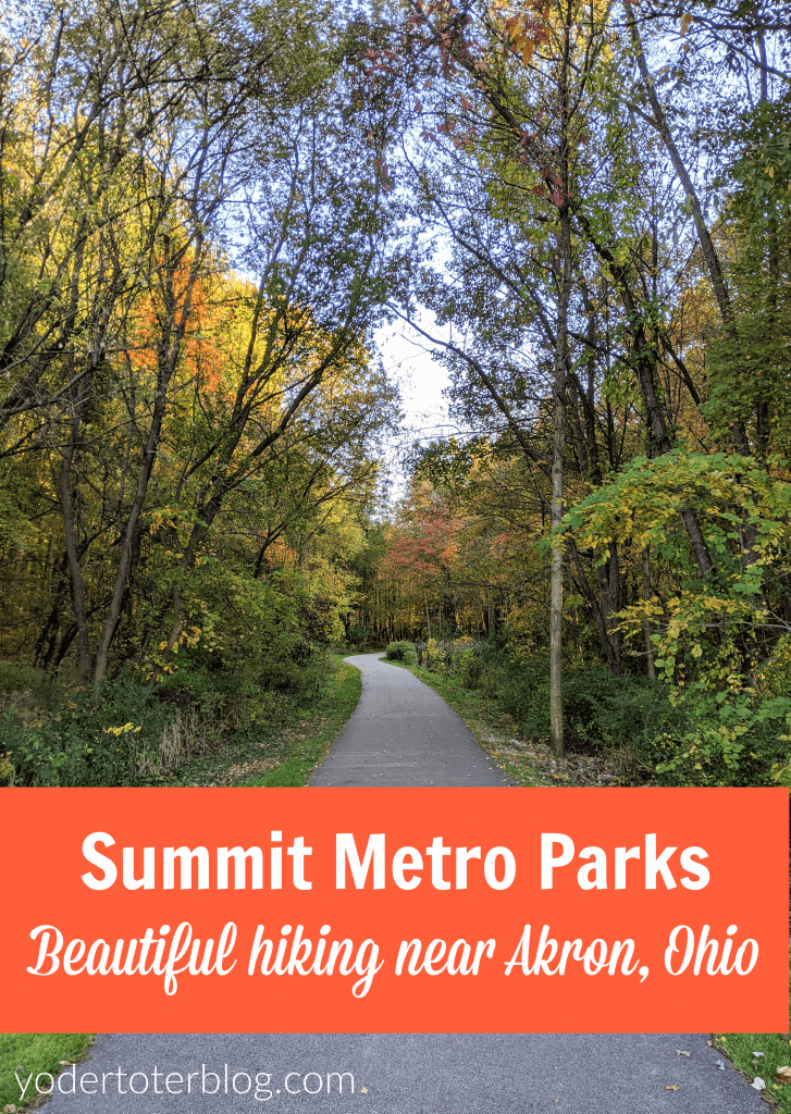 Tips for visiting Summit Metro Parks near Akron, Ohio.  This is great hiking in Northeast Ohio.  We enjoyed both Cascade Valley Metro Park & Gorge Metro Park.