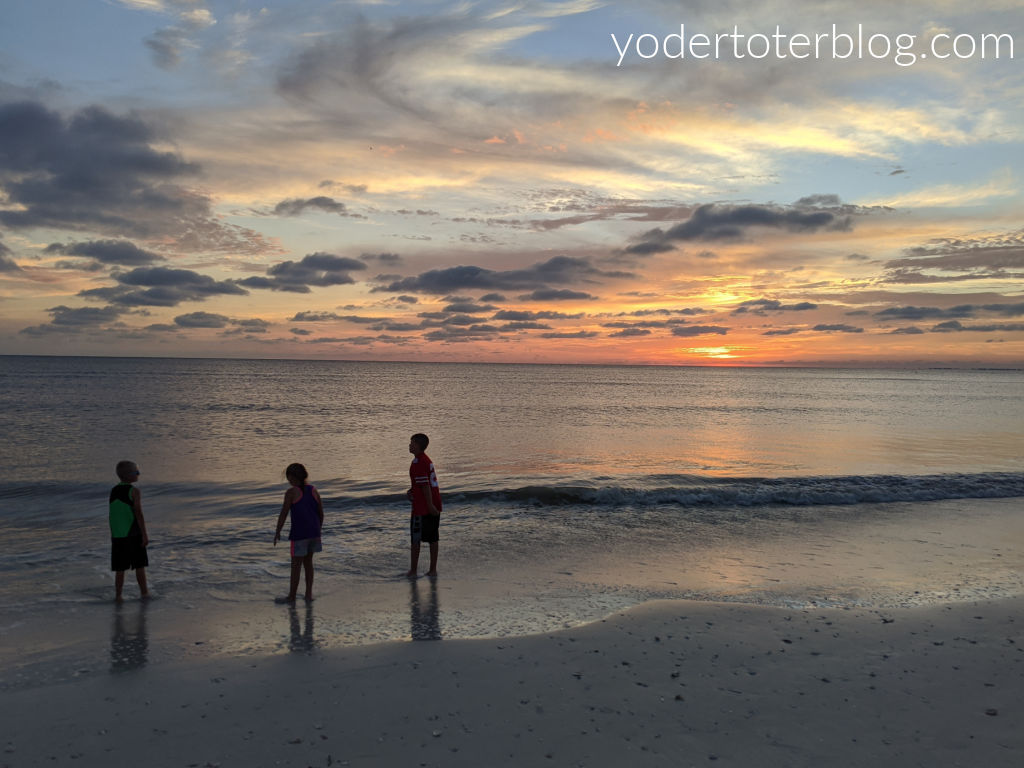 Sunsets on Fort Myers Beach are spectacular - and fun for the entire family