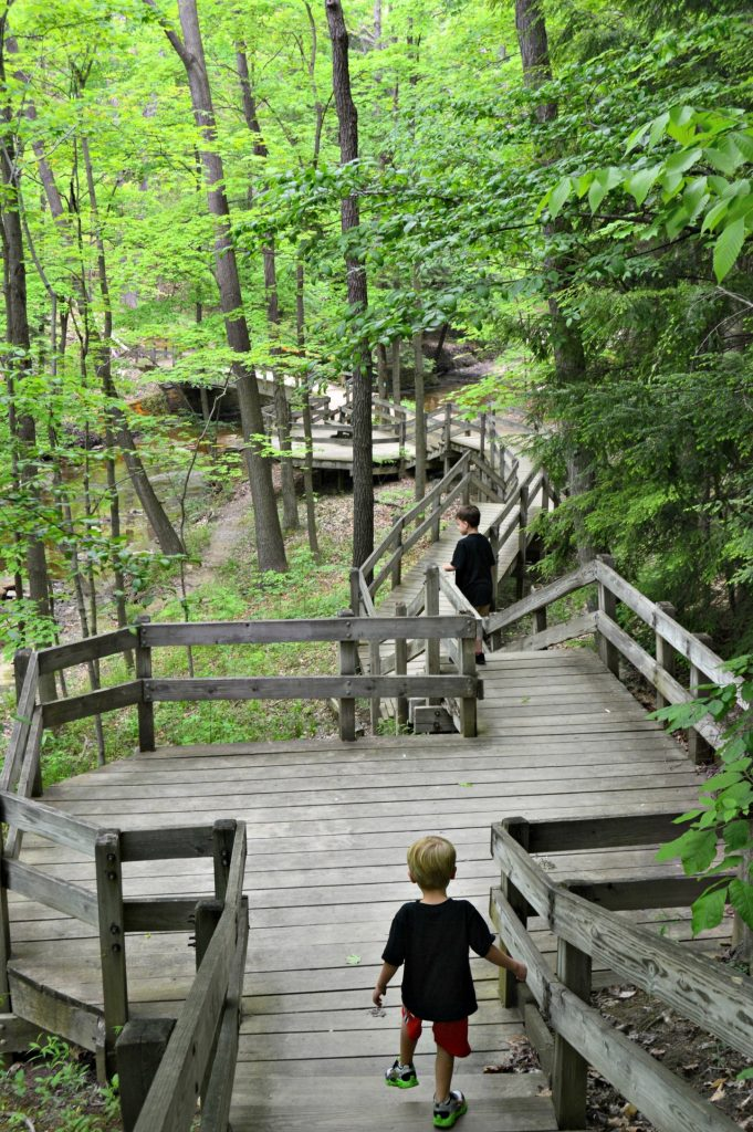 The deck to Bridal Veil falls - part of the Cleveland Metroparks.  One of the best hikes in Northeast Ohio.  Hiking trails of Northeast Ohio.