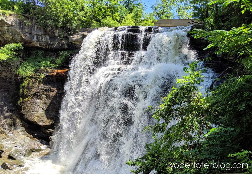 Best hikes in Northeast Ohio - Brandywine Falls in Cuyahoga Valley National Park is a 65-foot waterfall you just have to see!  Waterfall trail in Ohio.
