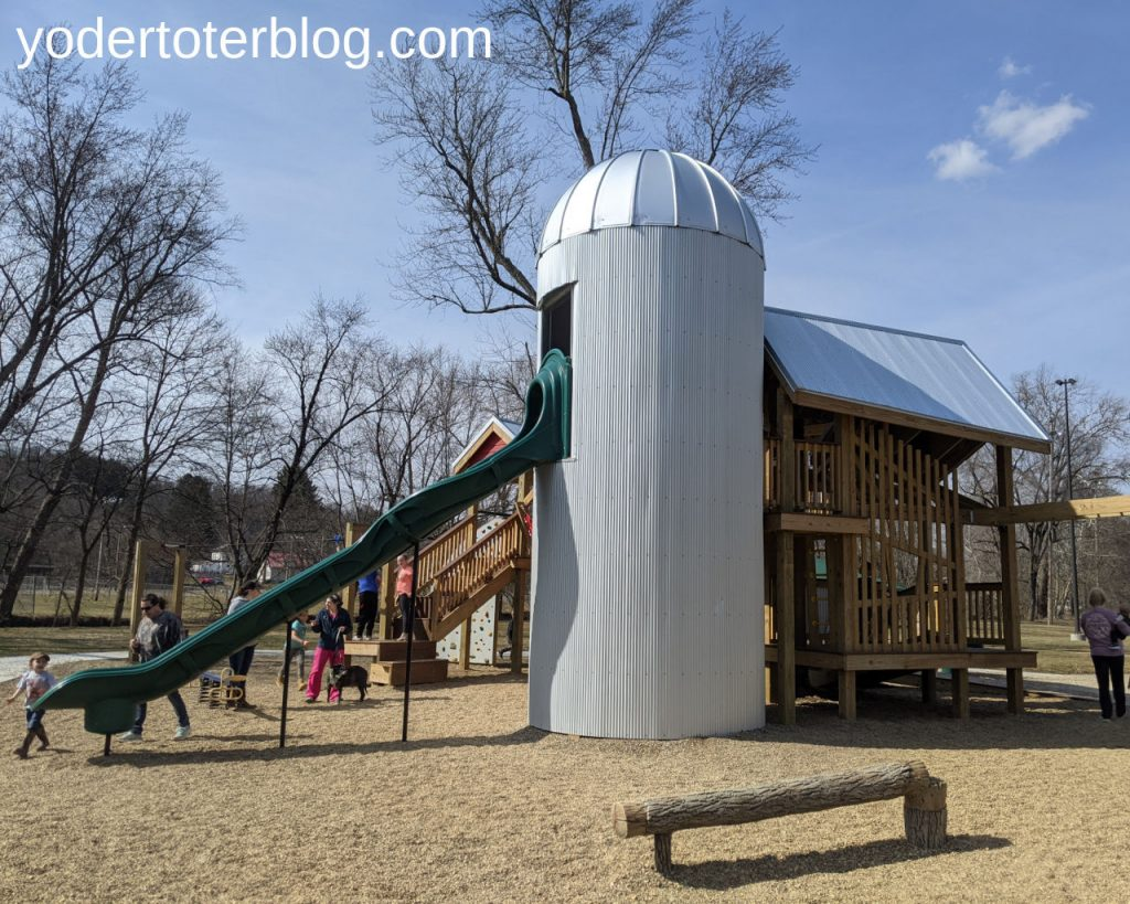 Riverside Park in Loudonville is a fun stop for families visiting the Mohican State Park area.