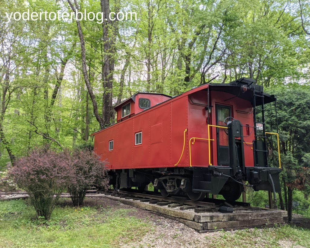 Hocking Hills with family- Hocking Hills itinerary for families - stay at the Hocking Hills Caboose