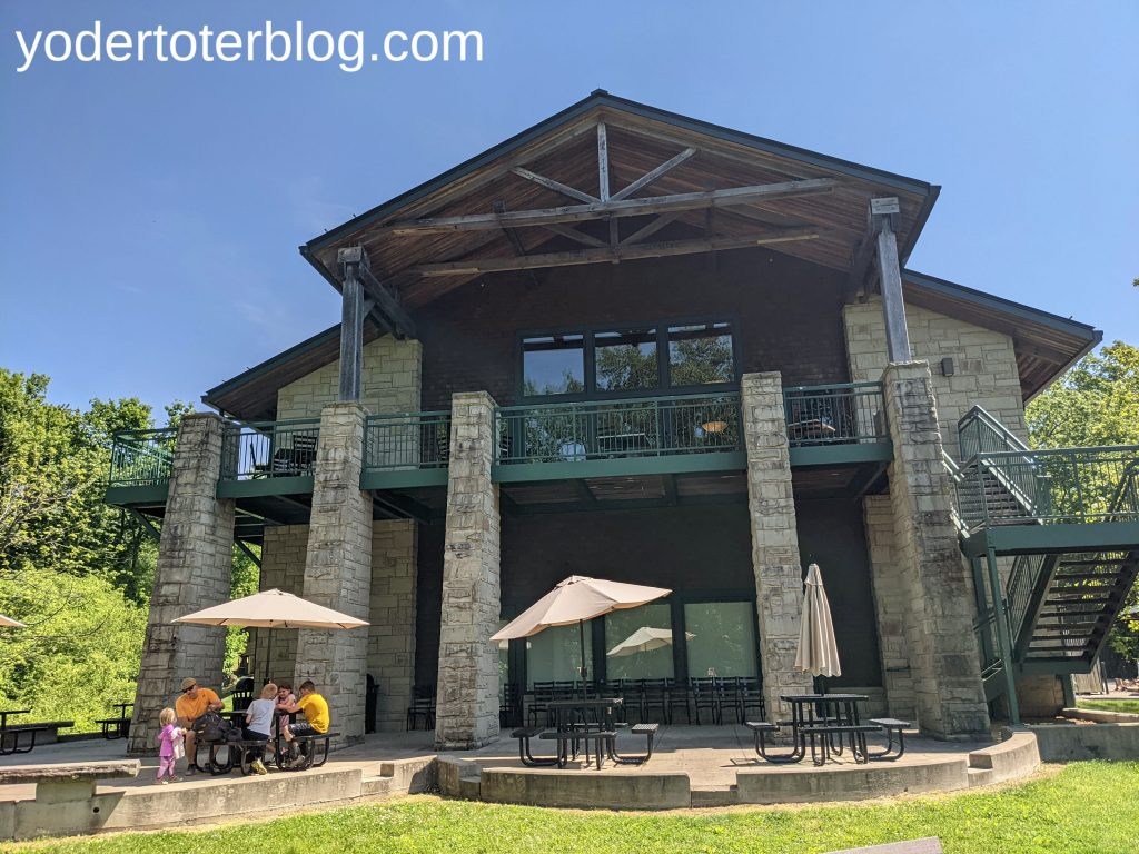 Lake Hope Lodge - a 35 minute drive from Hocking Hills takes you to this picturesque lunch spot. Family itinerary for Hocking Hills region