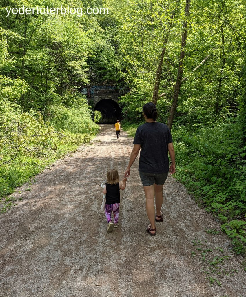 Moonville tunnel.  Hocking Hills Family itinerary