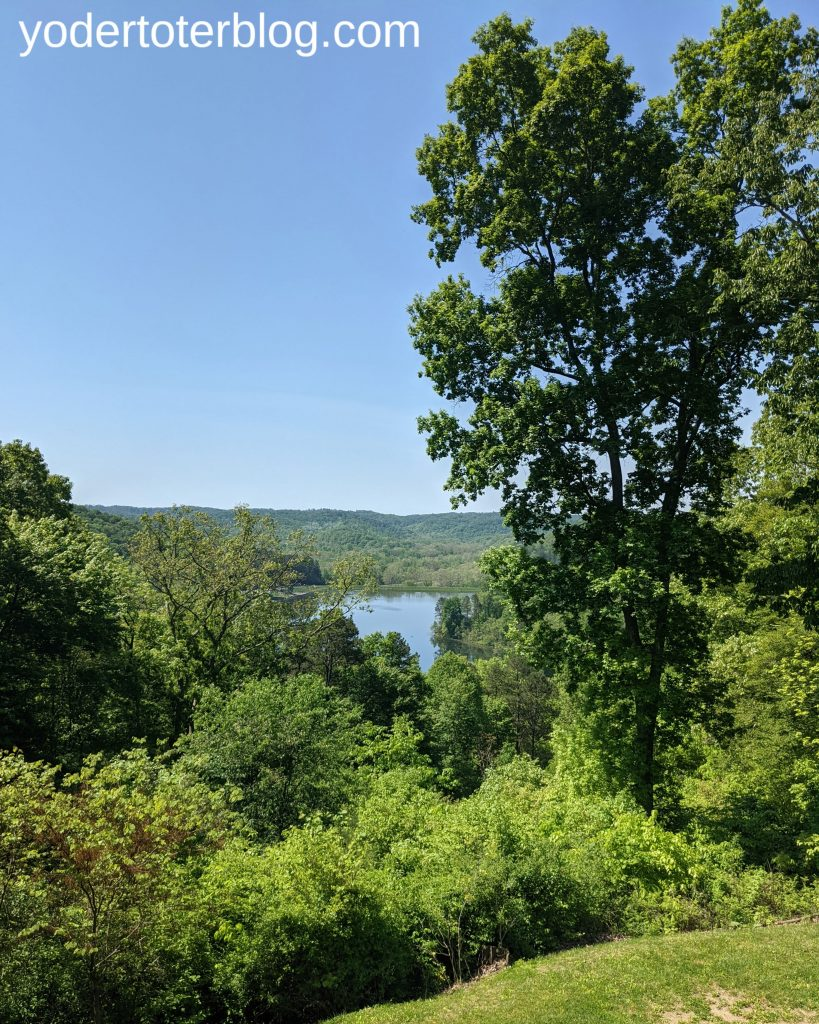 The view from Lake Hope Lodge - A short drive from Hocking Hills takes you to this beautiful lunch spot.